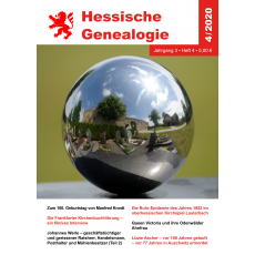 Hessische Genealogie (Jahrgang 2020)