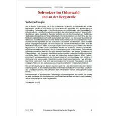 Nachträge zu Schweizer im Odenwald und an der Bergstraße - Download