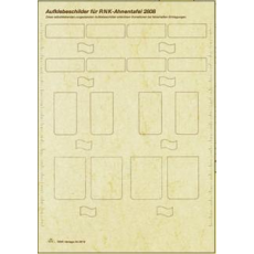Label sheet for jewelry ancestor table A2829