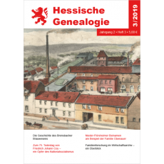 Hessische Genealogie 3/2019