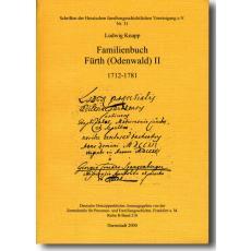 Familienbuch Fürth (Odenwald) Band II 1712-1781