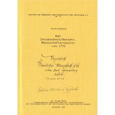 Amt Zwingenberg/Bergstr. - Mannschaftsregister von 1771