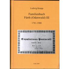 Familienbuch Fürth (Odenwald) Band  III 1781-1900